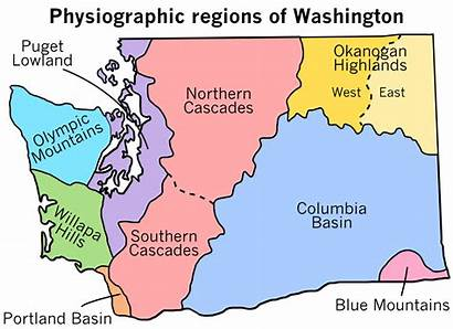 Washington Regions Physiographic Svg Archivo Washingtons Wikipedia