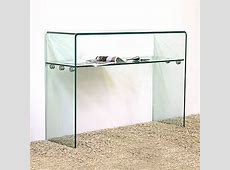 Large Curved Shelf Glass Console Table W100cm x D33cm x