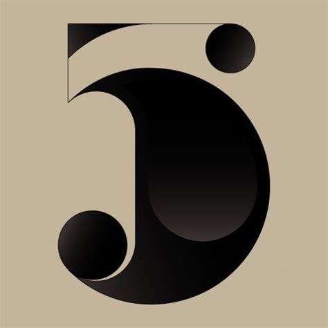 what a beautiful image of a simple number 5 love it graphic design and typography