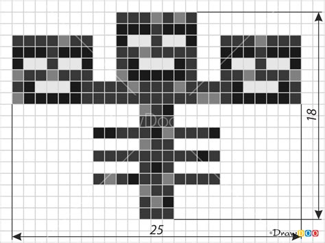 draw wither pixel minecraft