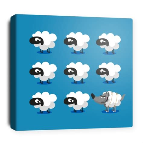 toile chambre bébé toile décorative pour chambre bébé 8 moutons
