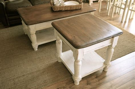 Farmhouse coffee table build (free plans in description). Farmhouse Coffee Table Set   Coffee, end tables, Rustic end tables, Farmhouse end tables