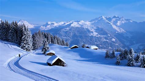 Hd Snowy Mountain Wallpaper Winterwanderung In Den Alpen