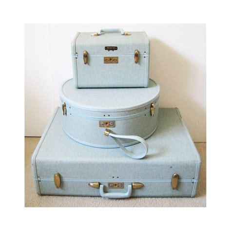 Light Blue 1960 39 S Vintage Samsonite Luggage Set Suitcase