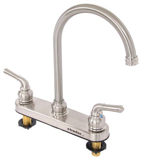 best rv kitchen faucets dual handle rv kitchen faucet brushed nickel distribution rv faucets 277 000094