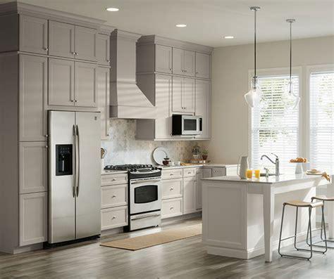 Gray & White Cabinets in Two Tone Kitchen   Aristokraft