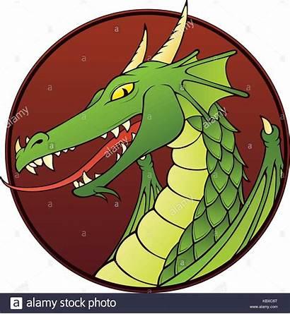 Dragon Cartoon Firedrake Illustration Portrait Alamy