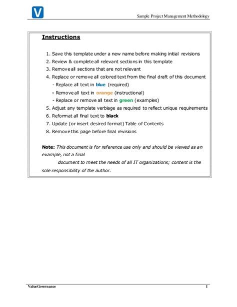 Project Management Methodology Template by Pm009 01 Project Managament Methodology Template