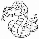 Snake Coloring Pages Cartoon Drawing Anaconda Outline Scary Vector Clipart Snakes Sea Python Paintingvalley Printable Drawings Illustration Explore Depositphotos Crazy sketch template