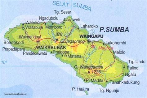 peta kota pulau sumba