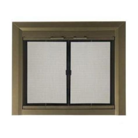 home depot fireplace doors pleasant hearth medium glass fireplace doors ct