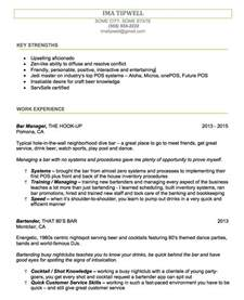 Exles Of Bartender Resumes by Bartenders Resume Writing Service We Tailor The Resume To You