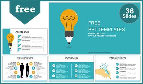 creative idea bulb powerpoint template