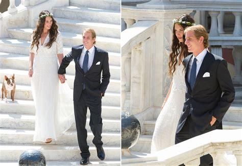las fotografias oficiales de la boda de andrea casiraghi  tatiana santo domingo
