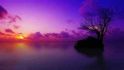 Purple Sunset Beach Wallpapers Wallpapersafari Iphone