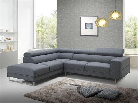 canapé d angle gris tissu canapé d 39 angle design en tissu gris avec tétières 280 cm