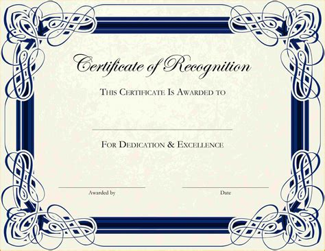 Certificate Of Recognition 6 Free Templates In Pdf Word 6 Free Printable Certificate Border Templates Sle Of