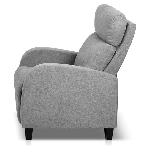 Reclining Armchair Fabric by Buy Artiss Fabric Reclining Armchair Grey At