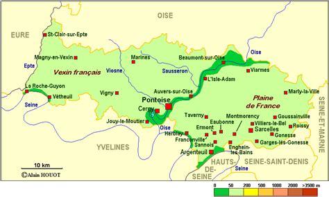Val-d'Oise carte renseignée