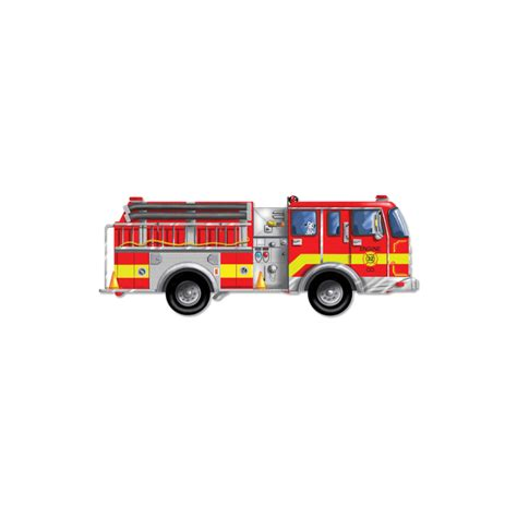 melissa and doug giant fire engine floor puzzle 24 pc