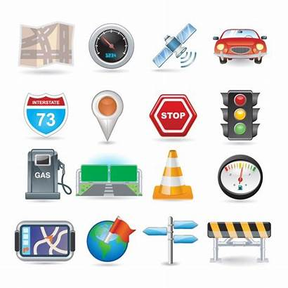 Icon Vector Navigation Icons Station Gas Vectors
