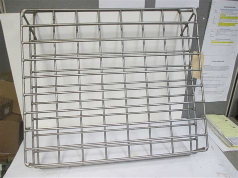 lvo flg commercial stainless steel dishwasher load rack tray pans