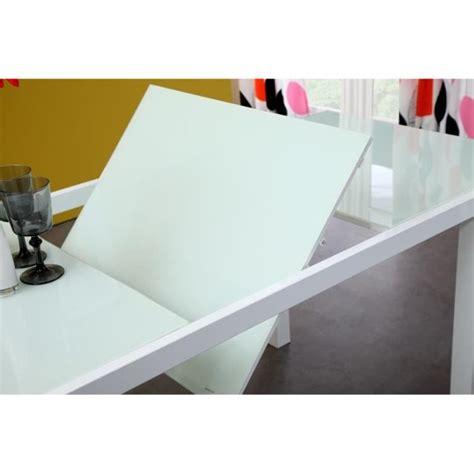 armoire cuisine pas cher roma table extensible 120 180cm verre blanc achat vente table salle a manger pas cher