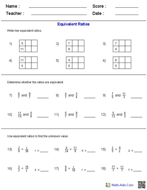 ratios worksheets math aids math worksheets dynamically created math worksheets