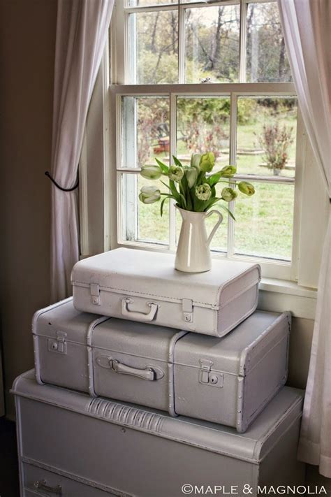 cottage flavor shabby chic style upcycled suitcases