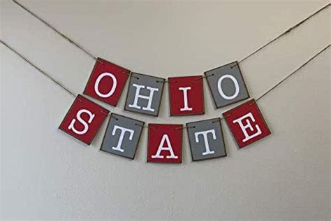 Amazon.com: Ohio State Banner Bunting Garland Sign Scarlet ...