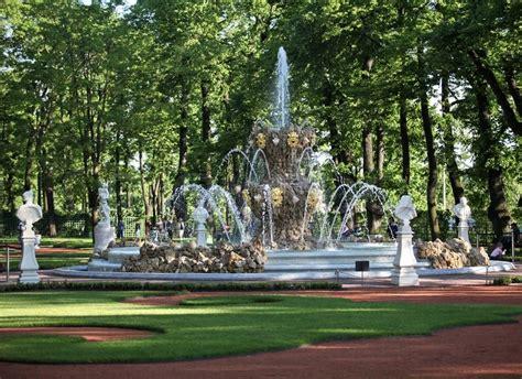 Fountain In The Summer Garden Of St Petersburg Stock