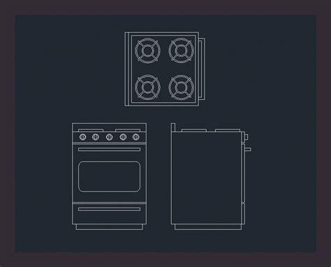 bloque cocina  vistas en autocad descargar cad gratis