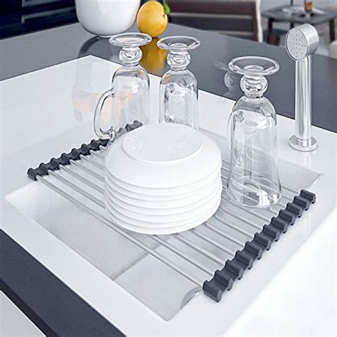 kitchen dish drying rack   sink drainer sink caddy dish rack sink rack roll  sink