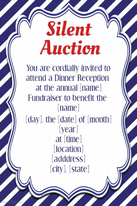 Silent Auction Invitation Flyer Template Small Business Silent Auction Invitation Flyer Template Small Business