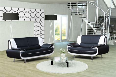 canape d angle en cuir noir canapé design 3 2 bregga noir blanc noir gris blanc