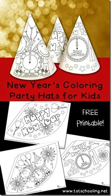 years eve hats  kids  color