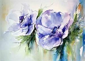 Aquarell Malen Blumen : anemonen aquarell 30x23cm malen pinterest anemone ~ Articles-book.com Haus und Dekorationen