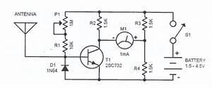 Simple Field Strength Meter Circuit