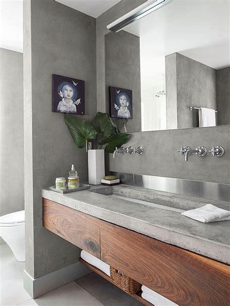idees de meuble lavabo flottant pour une salle de bain