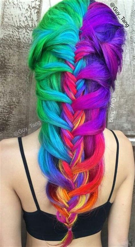 17 Best Ideas About Rainbow Dyed Hair On Pinterest Crazy