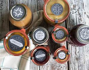 chalkboard canning freezer labels by lia griffith With jar lid labels round