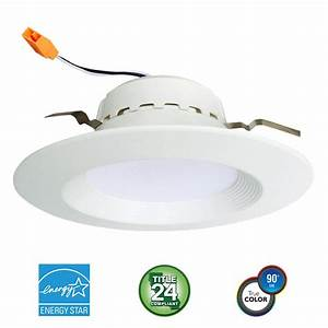 euri lighting 4 in 75 watt equivalent 13 watt matte With 4 lamp for downlight