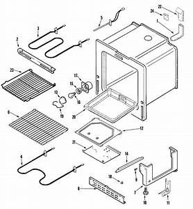 Oven  Base Diagram  U0026 Parts List For Model Mer5551baw Maytag