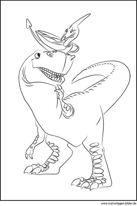 dinosaurier und flugsaurier gratis ausmalbild