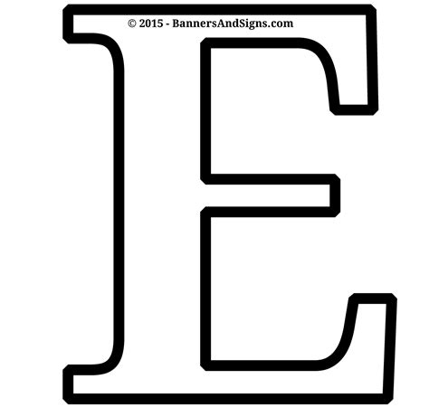 cut out letters printable letter e coloring page 13224