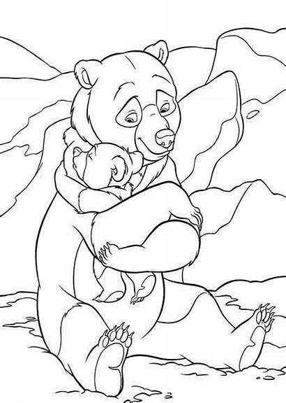 Coloring Pages Bear Brother Disney Hug Printable