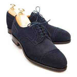Women Navy Suede Shoes