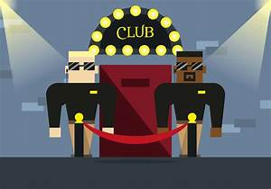 Bouncer Club Illustration Vector