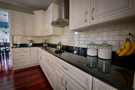 white kitchen subway tile backsplash beautiful kitchen white cabinets black granite subway