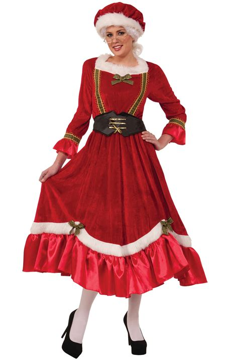 jolly mrs santa claus plus size costume purecostumes com